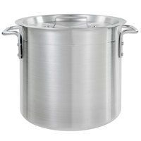 Choice 12 Qt. Standard Weight Aluminum Stock Pot with Cover