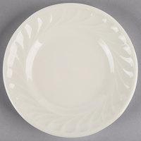 Tuxton MEA-055 Meridian 5 5/8 inch Eggshell Embossed Swirl Rim China Plate - 36/Case