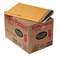 Jiffy 64371 12 1/2 inch x 19 inch Padded Peel & Seal #6 Natural Kraft Mailer - 50/Case