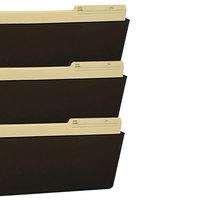 Storex 70247U06C 14 inch x 16 inch Smoke 3 Pocket Wall File, Legal Size