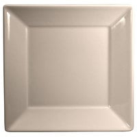 Homer Laughlin 8300 Times Square 8 1/2 inch Ivory (American White) Square China Plate - 12/Case