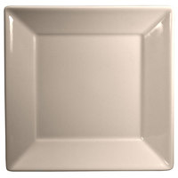 Homer Laughlin Times Square 8 1/2 inch Square American White (Ivory / Eggshell) China Plate 12 / Case