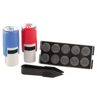 U.S. Stamp & Sign 4630 5/8 inch Ever-Stamp Blue/Red Self-Inking Stamps with 10 Dies - 2/Pack