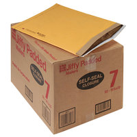 Jiffy 64542 20 inch x 14 1/4 inch Padded Peel & Seal #7 Natural Kraft Mailer - 50/Case