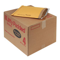 Jiffy 67320 9 1/2 inch x 14 1/2 inch Padded Peel & Seal #4 Natural Kraft Mailer - 100/Case