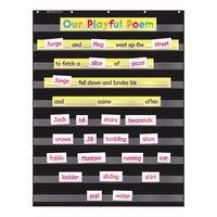 Scholastic 573277 34 inch x 44 inch Black Pocket Chart