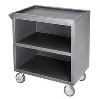 Cambro BC330191 Granite Gray Three Shelf Service Cart with Three Enclosed Sides - 33 1/8 inch x 20 inch x 34 5/8 inch