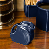 Homer Laughlin 475105 Fiesta Cobalt Blue 5 oz. Mini Disc Creamer Pitcher - 4/Case