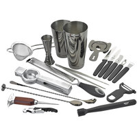 Barfly M37102BK Deluxe 19-Piece Gun Metal Black Cocktail Kit