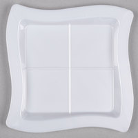 Fineline Tiny Temptations 6206-WH 7 1/4 inch x 7 1/4 inch White Disposable Plastic Tray - 120/Case