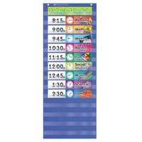 Scholastic 511498 13 inch x 33 inch Daily Schedule Pocket Chart