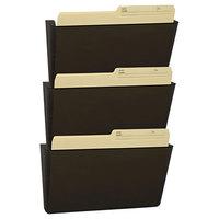 Storex 70246U06C 13 inch x 14 inch Smoke 3 Pocket Wall File, Letter Size