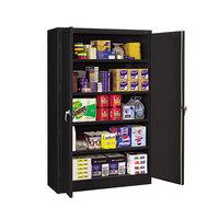 Tennsco J1878SUBK 48 inch x 18 inch x 78 inch Black Jumbo Storage Cabinet