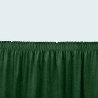 National Public Seating SS16 Green Shirred Stage Skirt for 16 inch Stage