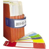 Tabbies 68807 9 5/8 inch x 2 inch Dark Blue File Pocket Handle - 48/Pack