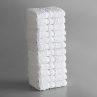 Lavex Lodging Standard 16 inch x 27 inch Cotton/Poly Hand Towel 3 lb. - 12/Pack