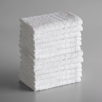 Lavex Lodging Standard 12 inch x 12 inch Cotton/Poly Wash Cloth .75 lb.   - 12/Pack