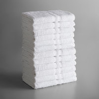 Lavex Lodging Standard 24 inch x 48 inch Cotton/Poly Bath Towel 8 lb. - 12/Pack