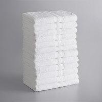 Lavex Lodging Standard 24 inch x 48 inch Cotton/Poly Bath Towel 8 lb. - 12/Pack