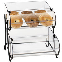 Cal-Mil 1280-2 Two Tier Black Wire Pastry Display - 15 1/2 inch x 17 3/4 inch x 17 1/2 inch