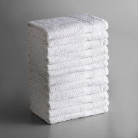 Lavex Lodging Economy 22 inch x 44 inch 100% Cotton Bath Towel 6 lb. - 12/Pack