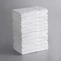 Lavex Lodging Economy 22 inch x 44 inch 100% Cotton Bath Towel 6 lb. - 12/Pack