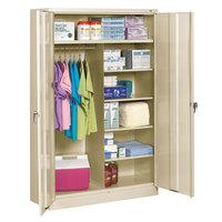 Tennsco J2478SUCPY 48 inch x 24 inch x 78 inch Putty Jumbo Combination Storage Cabinet