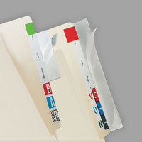 Tabbies 68387 2 inch x 11 inch Clear Self-Adhesive Label / File Folder Protector Strip - 100/Pack