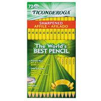 Dixon Ticonderoga 13972 Yellow Barrel Pencil HB #2   - 72/Pack