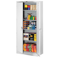 Tennsco 1870LGY 36 inch x 18 inch x 78 inch Light Gray High Deluxe Storage Cabinet