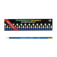 Dixon Ticonderoga 14209 Blue Lead 2.6mm Erasable Colored Pencils - 12/Pack
