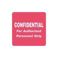 Tabbies 40570 2 inch x 2 inch Red Confidential Medical Label - 500/Roll