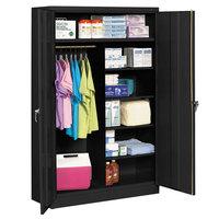 Tennsco J2478SUCBK 48 inch x 24 inch x 78 inch Black Jumbo Combination Storage Cabinet