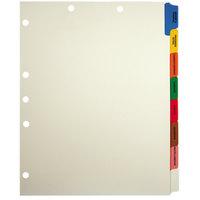 Tabbies 54505 8-Tab Manila / Assorted Color Side Tab Prepunched Medical Chart Divider Set - 40/Box