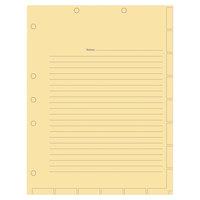 Tabbies 54519 Untabbed Manila Medical Chart Index Divider Sheet - 400/Box
