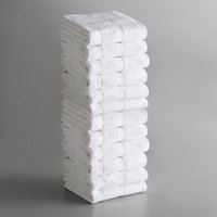 Lavex Lodging Standard 20 inch x 30 inch Cotton/Poly Bath Mat 6.5 lb. - 12/Pack