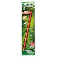 Dixon Ticonderoga 14259 Carmine Red Lead 2.6mm Erasable Colored Pencils - 12/Pack