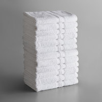 Lavex Lodging Standard 24 inch x 50 inch Cotton/Poly Bath Towel 10.5 lb. - 12/Pack