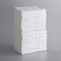 Lavex Lodging Standard 24 inch x 50 inch Cotton/Poly Bath Towel 10.5 lb. - 12/Pack