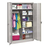 Tennsco J2478SUCLGY 48 inch x 24 inch x 78 inch Light Gray Jumbo Combination Storage Cabinet