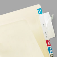 Tabbies 58385 3 1/2 inch x 2 inch Clear Top Tab Self-Adhesive Label / File Folder Protector - 500/Box