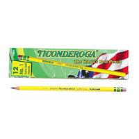 Dixon Ticonderoga 13881 Yellow Barrel Extra Soft Pencil B #1 - 12/Pack