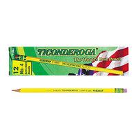 Dixon Ticonderoga 13884 Yellow Barrel Hard Pencil 2H #4 - 12/Pack