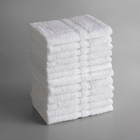 Lavex Lodging Standard 22 inch x 44 inch Cotton/Poly Bath Towel 6 lb. - 12/Pack