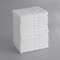 Lavex Lodging Standard 22 inch x 44 inch Cotton/Poly Bath Towel 6 lb. - 12/Pack