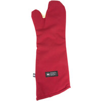 San Jamar KT0224 Cool Touch 24 inch Flame Red Conventional Oven Mitt with Kevlar®
