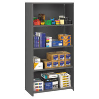 Tennsco ESPC2436MGY Medium Gray Steel 5 Shelf Closed Commercial Shelving - 36 inch x 24 inch x 75 inch