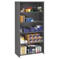 Tennsco ESPC62436MGY Medium Gray Steel 6 Shelf Closed Commercial Shelving - 36 inch x 24 inch x 75 inch