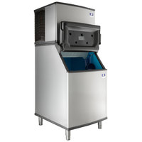 Manitowoc IY-0606A Indigo 30 inch Air Cooled Half Dice Ice Machine with Bin - 208-230V, 635 lb.
