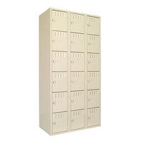 Tennsco BS6121812CSD Triple Stack Eighteen Door Sand Steel Locker - 36 inch x 18 inch